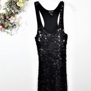 Wet Seal Black Ombre Sequined Dress XS #0285